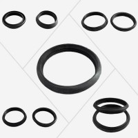 Connection rubbers for pressure tubes