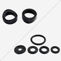 Rubbers for clamp saddles and collars
