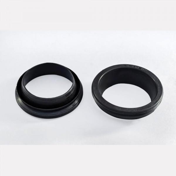 Aluminum tube rubbers
